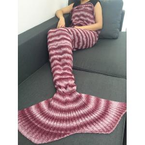 Knitting Wave Stripe Super Soft Mermaid Tail Style Blanket