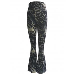 High Waist Leopard Trumpet Pants