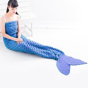 Warmth Fish Scale Pattern Wrap Mermaid Tail Blanket