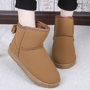 Bow Slip On Snow Boots - Brown - 39
