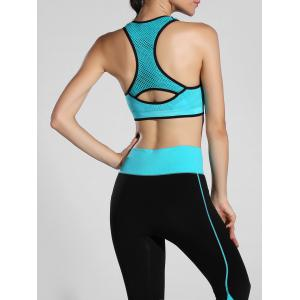 Cut Out Racerback Sporty Bra