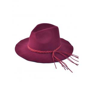 Braided Tassel Floppy Felt Hat