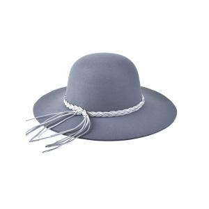 Braided Band Tassel Floppy Hat