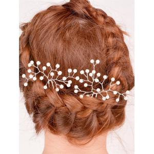 Faux Pearl Alloy Floral Hairpin