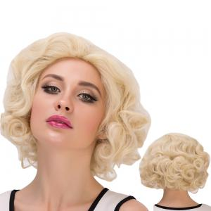 Sparkling Short Curly Cosplay Synthetic Wig
