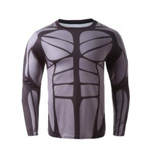 3D Muscle Long Sleeve T-Shirt