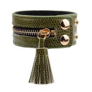 Zip Faux Leather Bracelet