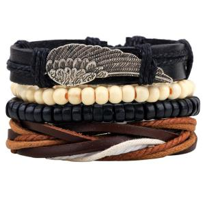 Wing Braided Bead Bracelets