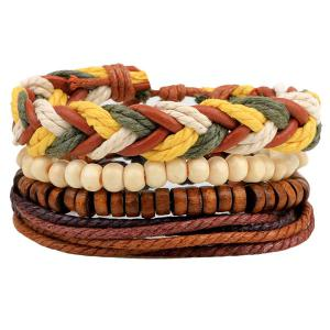 Layered Bead Braided Bracelets
