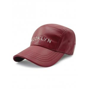 Casual Brooklyn Embroidery PU Baseball Hat