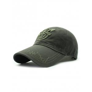 Casual Shield Embroidery Baseball Hat
