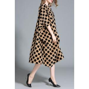 Asymmetric Polka Dot Midi Dress -