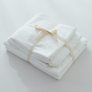Home Textile Washable Cotton Fitted Sheet 4PCS Bedding Set -