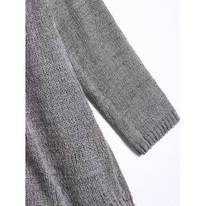 Long Sleeve Cardigan With Knitted Tank Top -