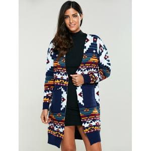 Color Block Geometrical Cardigan -