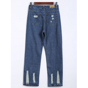 Destroy Wash Frayed Harem Jeans -