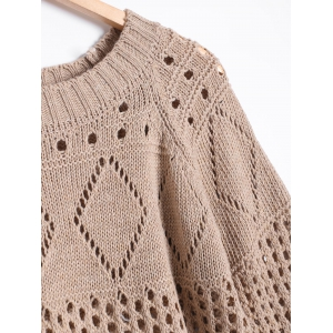 High Low Hollow Out Sweater Dress -
