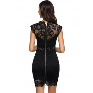 Openwork Bodycon Lace Dress -