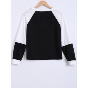 Graphic Color Block Sweater - BLACK XL