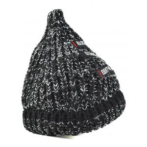 Letter Patch Label Knitted Beanie -