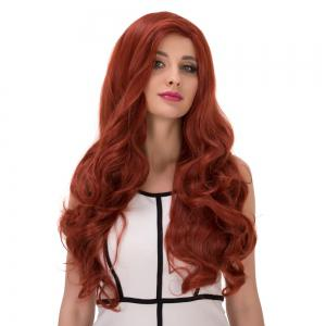 Long Wavy Side Parting Colormix Synthetic Wig -