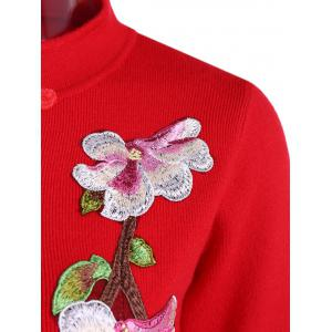Embroidered Knitted Qipao Dress -