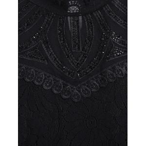 Lace Voile See Through Slimming Blouse -