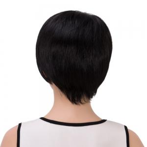 Ultrashort Side Parting Straight Synthetic Wig -