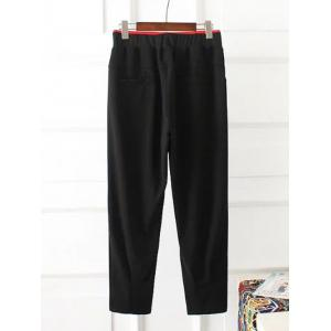 Plus Size Elastic Waist Lip Pattern Pants -