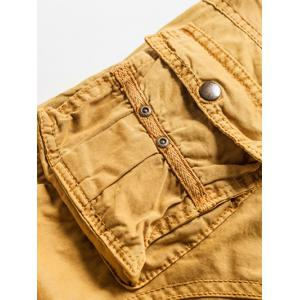 Zipper Fly Straight Leg Multi-Pocket Cargo Shorts -