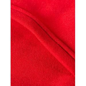Color Splicing Zip Up Long Sleeve Hoodie - RED 2XL