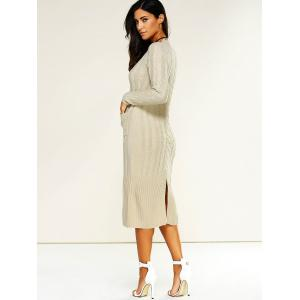 Longline Jumper Dress with Pockets -