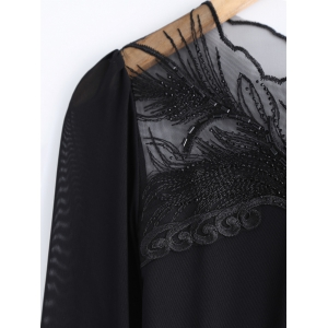 Beading Lace Spliced T-Shirt -