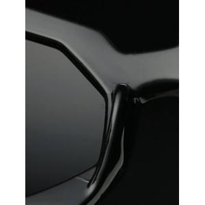 Modern Polygonal Frame Sunglasses - BLACK