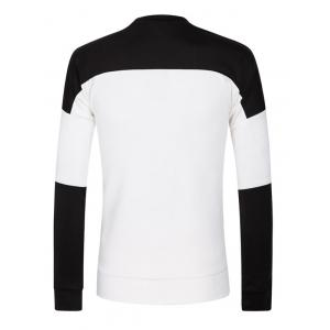 Color Splicing Long Sleeve Sweatshirt -