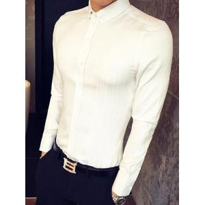 Slim Fit Long Sleeve Button-Down Shirt -