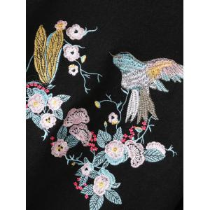 Embroidery Pullover Sweater With Chinese Painting -