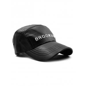 Casual Brooklyn Embroidery PU Baseball Hat -