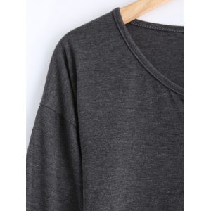 Buttoned Loose Casual T-Shirt -