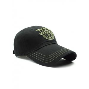 Casual Shield Embroidery Baseball Hat -