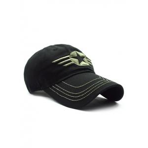 Casual Star Badge Embroidery Baseball Hat -