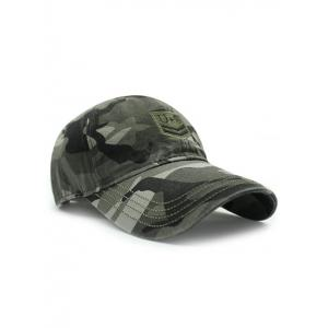 Casual USA Shield Embroidery Camouflage Pattern Baseball Hat -