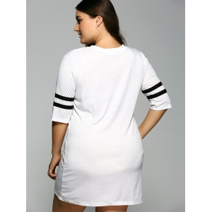 3/4 Sleeve T Shirt Dress -