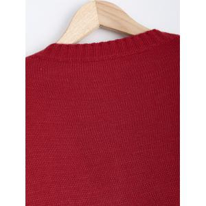 Cut Out Pocket Pullover Sweater -