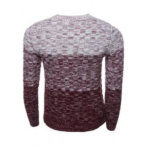 Crew Neck Ombre Long Sleeve Knit Blends Sweater -