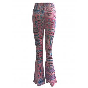 High Waist Ethnic Print Trumpet Pants -