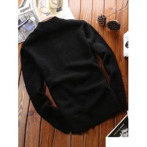 Stand Collar Raglan Sleeve Zip Up Cardigan - BLACK 2XL