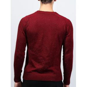 Ribbed Raglan Sleeve Crew Neck Sweater -
