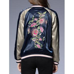Raglan Sleeves Floral Embroidered Jacket -