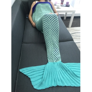 Super Soft Crochet Knitting Hollow Out Mermaid Blanket -